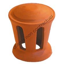 Lanterne petit modèle conique 100 (Section d'aération 30 cm2) Vieilli