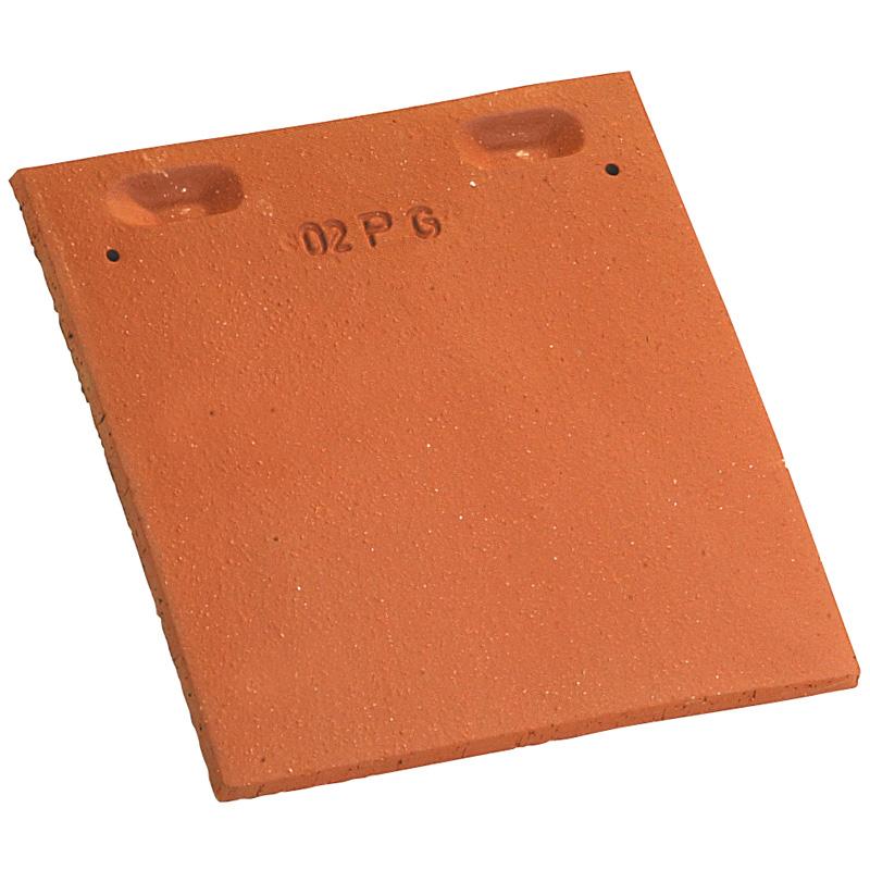 Accessoire terre cuite d'EDILIANS : Tuile et demie PLATE 17x27 rectangulaire Rouge Nuancé