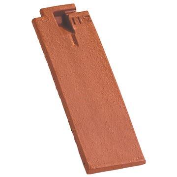 Accessoire terre cuite d'EDILIANS : 1/2 tuile de finition à recouvrement ARBOISE RECTANGULAIRE Rouge