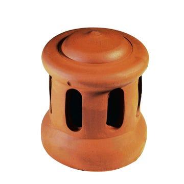 Accessoire terre cuite d'EDILIANS : Lanterne grand modèle 126 (Section d'aération 80 cm2) Rouge