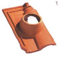Accessoire terre cuite d'EDILIANS : Tuile à douille MERIDIONALE 126 Rouge