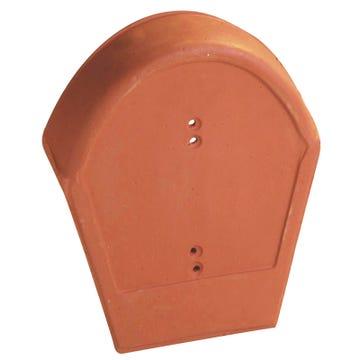 Accessoire terre cuite d'EDILIANS : Fronton 90 grand moule pour faîtière PV à emboîtement (grande ouverture) Rabat 90 Rouge