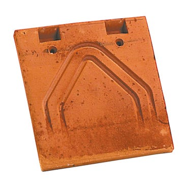 Accessoire terre cuite d'EDILIANS : Tuile courte d'égout et de faîtage PLATE Phalempin 17x27 Ambre