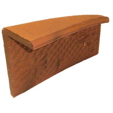 Accessoire terre cuite d'EDILIANS : Angle extérieur gauche 17x27 Phalempin Amarante Rustique