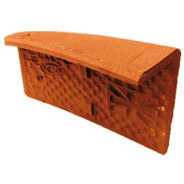 Accessoire terre cuite d'EDILIANS : Angle extérieur droit 17x27 Phalempin Amarante Rustique