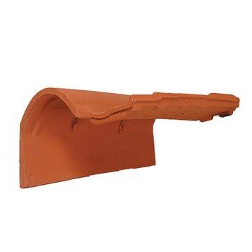 Accessoire terre cuite d'EDILIANS : Tuile de rive à rabat gauche à emboîtement MEDIANE PLUS Rouge