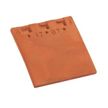 Accessoire terre cuite d'EDILIANS : Tuile doublis de faîtage Et tuile d'égoût PLATE 20X30 Flammé Rustique