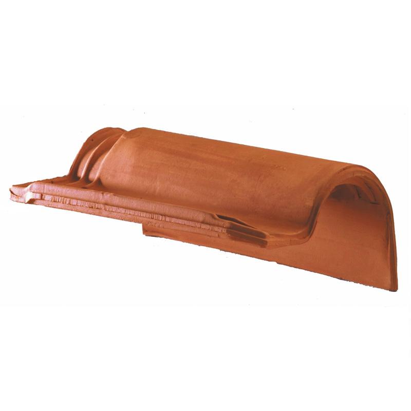 Accessoire terre cuite d'EDILIANS : Tuile de rive à rabat droite à emboîtement AQUITAINE