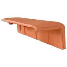 Accessoire terre cuite d'EDILIANS : 1/2 tuile de rive à rabat HP 10 droite