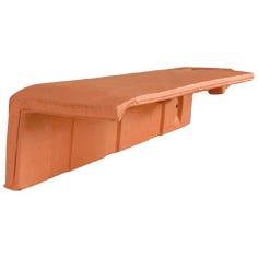 Accessoire terre cuite d'EDILIANS : 1/2 tuile de rive à rabat HP 10 gauche