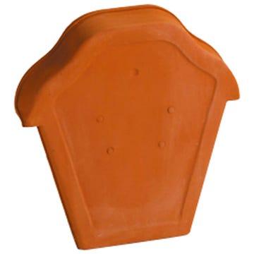 Accessoire terre cuite d'EDILIANS : Fronton pour faîtière ondulée à emboîtement Rouge
