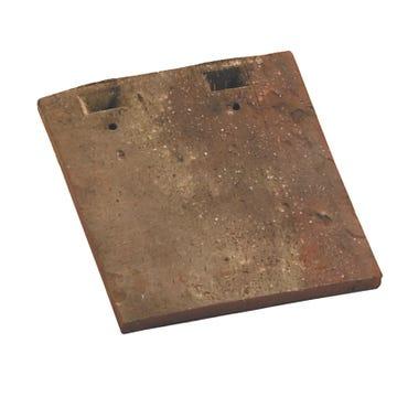 Accessoire terre cuite d'EDILIANS : Tuile courte d'égout et de faîtage Restauration 16x27 Rustique Foncé