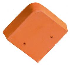 Accessoire terre cuite d'EDILIANS : Fronton pour faîtière angulaire sans emboîtement Flammé Rustique