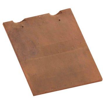Accessoire terre cuite d'EDILIANS : Tuile et demie 16x27 Rustique Foncé
