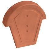 Accessoire terre cuite d'EDILIANS : Fronton pour faîtière demi ronde à recouvrement Rouge