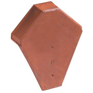 Accessoire terre cuite d'EDILIANS : Fronton pour faîtière angulaire à emboîtement Rouge