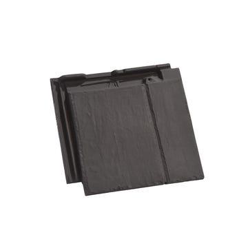 Accessoire terre cuite d'EDILIANS : Tuile et demie de finition droite à emboîtement BEAUVOISE GRAPHITE Ardoisé