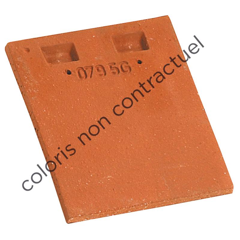 Tuile courte rectangulaire d'égout et de faîtage pour PLATE PRESSEE 17x27 Vieilli Masse