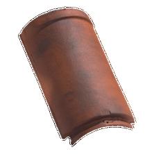 Faîtière / arêtier 1/2 rond à emboîtement grand modèle Rouge nuancé