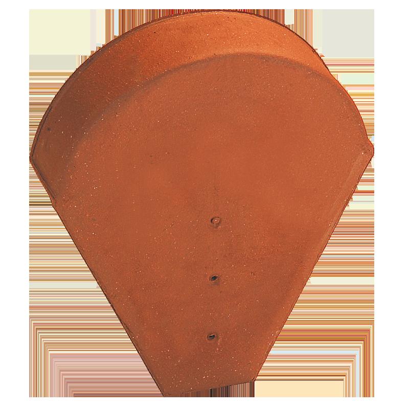 Accessoire terre cuite d'EDILIANS : Fronton grand moule pour faîtières lisse, à bourrelet et conique (grande ouverture) Rouge