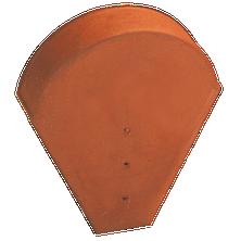 Fronton grand moule pour faîtières lisse, à bourrelet et conique (grande ouverture) Rouge