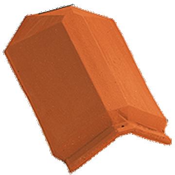 Accessoire terre cuite d'EDILIANS : About d'arêtier angulaire à emboîtement Rouge