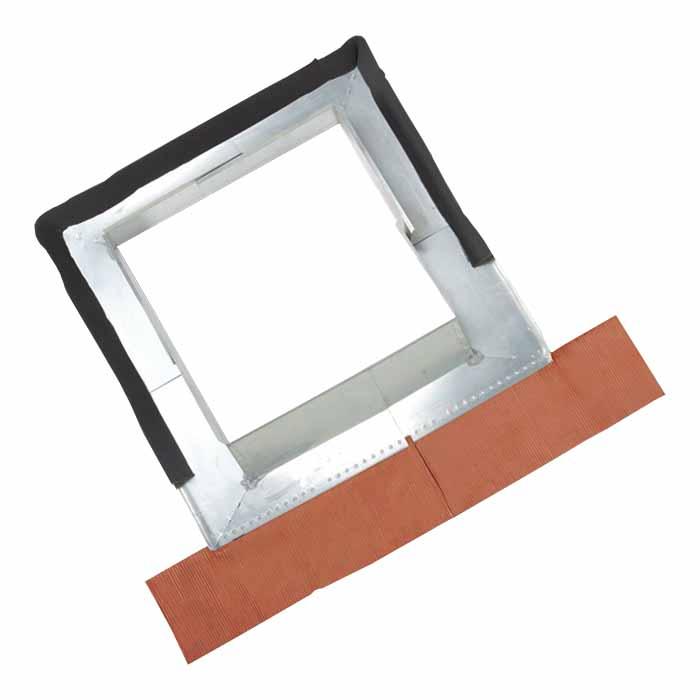 Abergement réglable Zinc pour boisseau de 60 à 110 cm plomb naturel