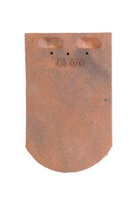 Tuile Plate Ecaille Pressee 17x27 Ste Foy Rouge Nuancé