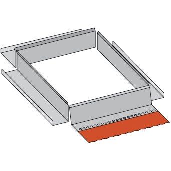 Kit rallonge Zinc pour abergement réglable avec bavette plomb