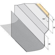 Solin joint mastic Zinc naturel + bavette plomb plissé naturel 145mm