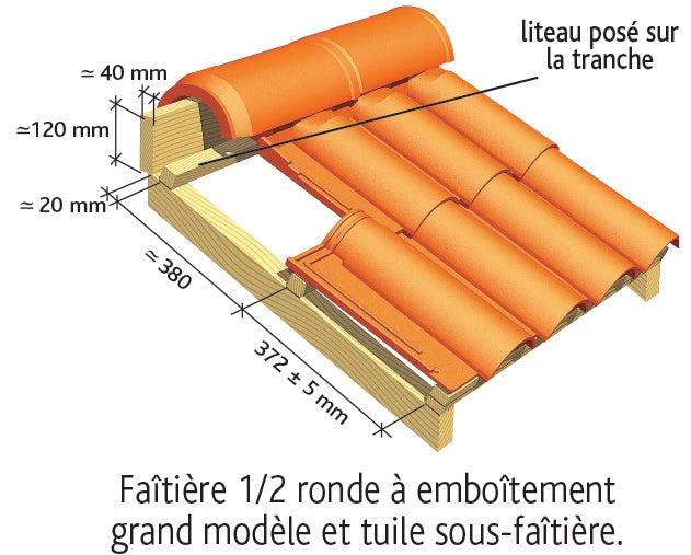 Tuile OMEGA 13 Ste Foy d'EDILIANS : Pose des tuiles de faîtage et de sous-faîtage 1