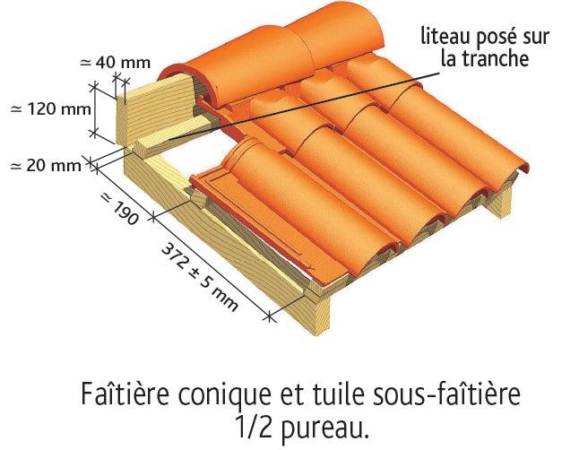 Tuile OMEGA 13 Ste Foy d'EDILIANS : Pose des tuiles de faîtage et de sous-faîtage 4