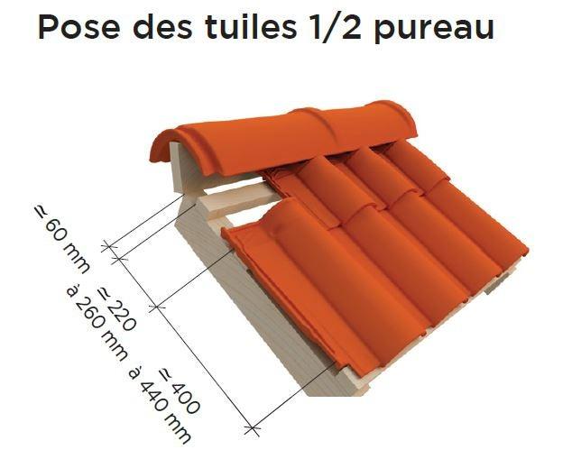 OMEGA MAX : Pose des tuiles 1/2 pureau