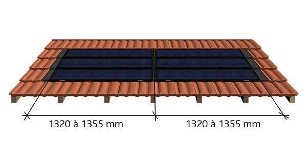 Coupe et cotation Tuile photovoltaïque