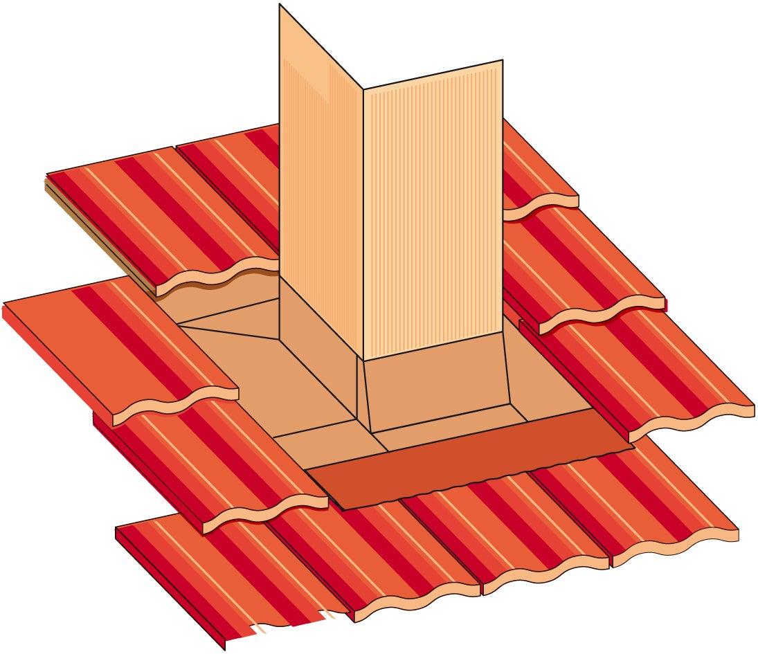 Abergements réglables de cheminée cuivre