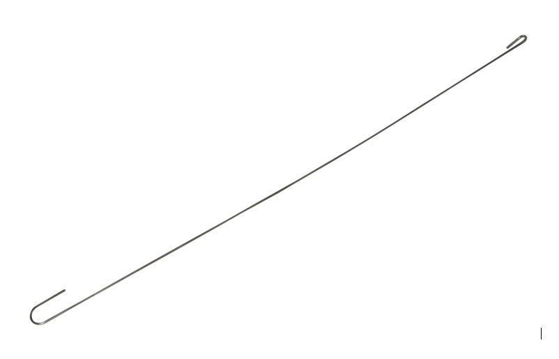 Crochet long à oeil 55 cm acier galva