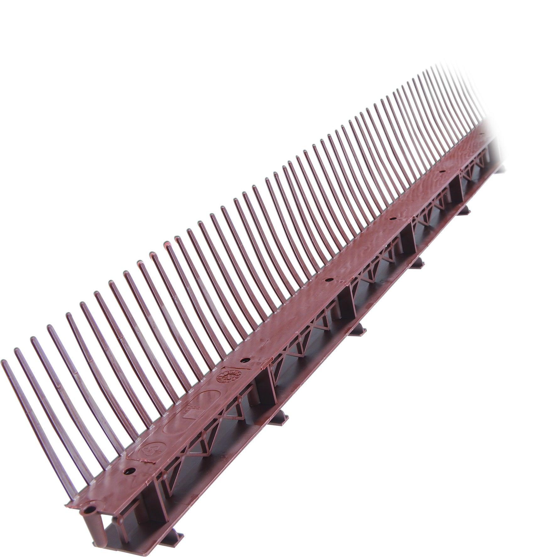 Liteau ventilé avec stop moineau (peigne 60mm, 1ml)