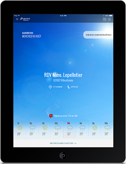 app sur Ipad